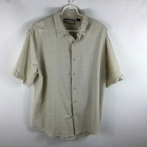 Havanera Mens Size XL Short Sleeve Button Down
